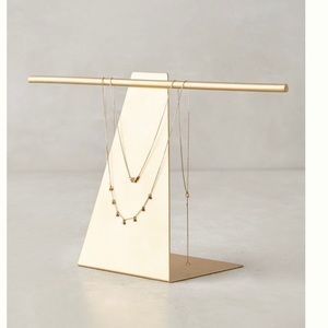 Anthropologie Gold Jewelry Stand